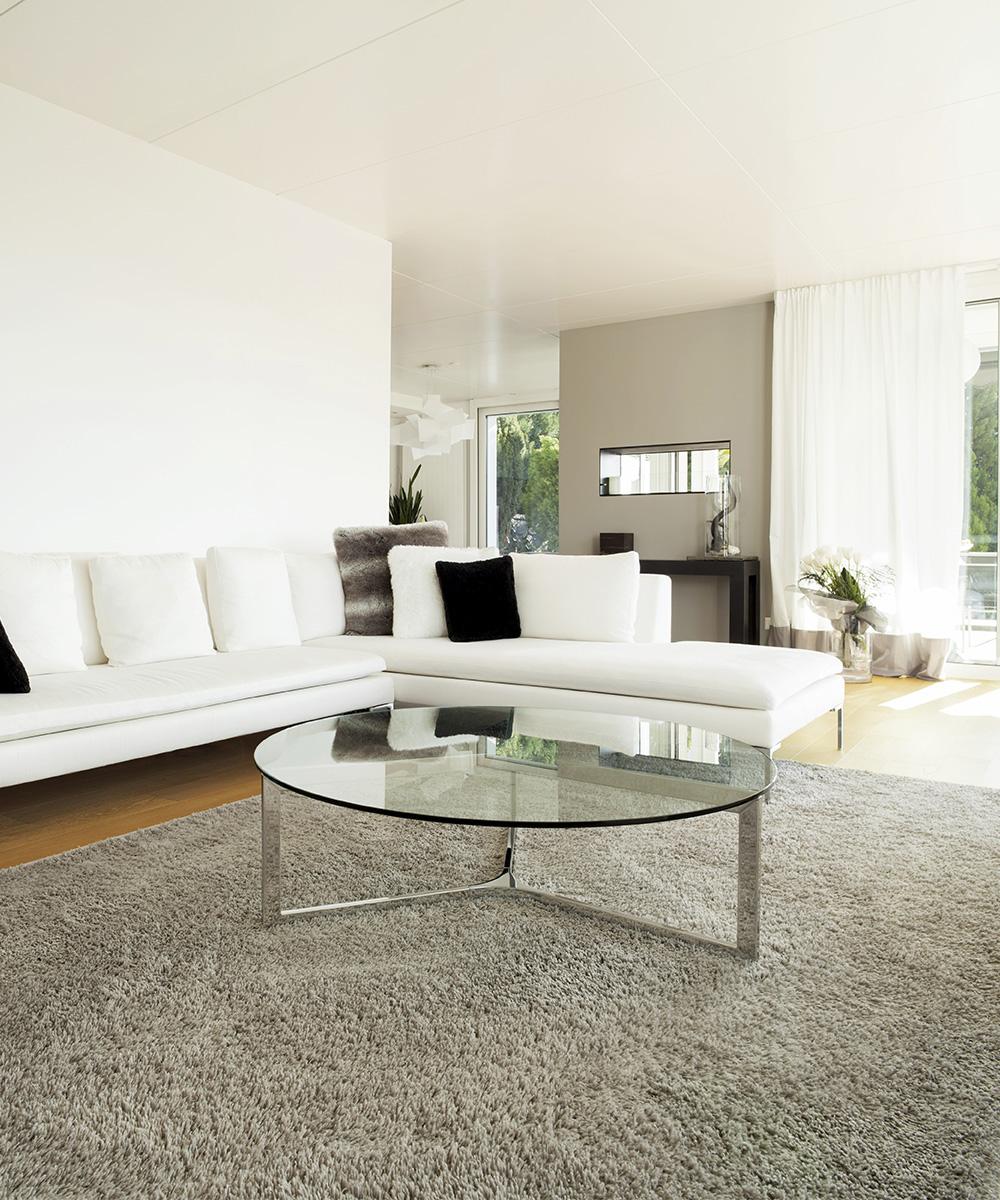 Clean carpet in living room